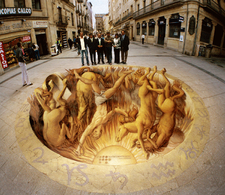 Творчество 3D на асфальте